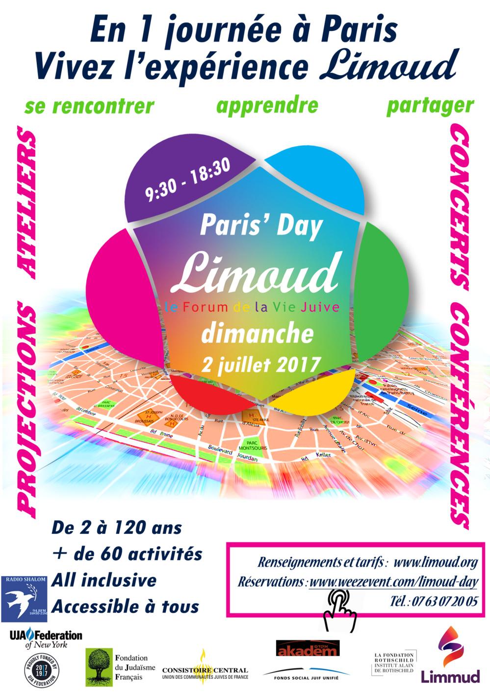 Limoud Day Paris 2 juillet : c'est parti !