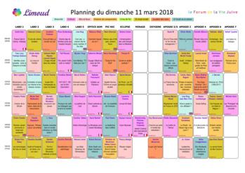 Le planning 2018 est en ligne !