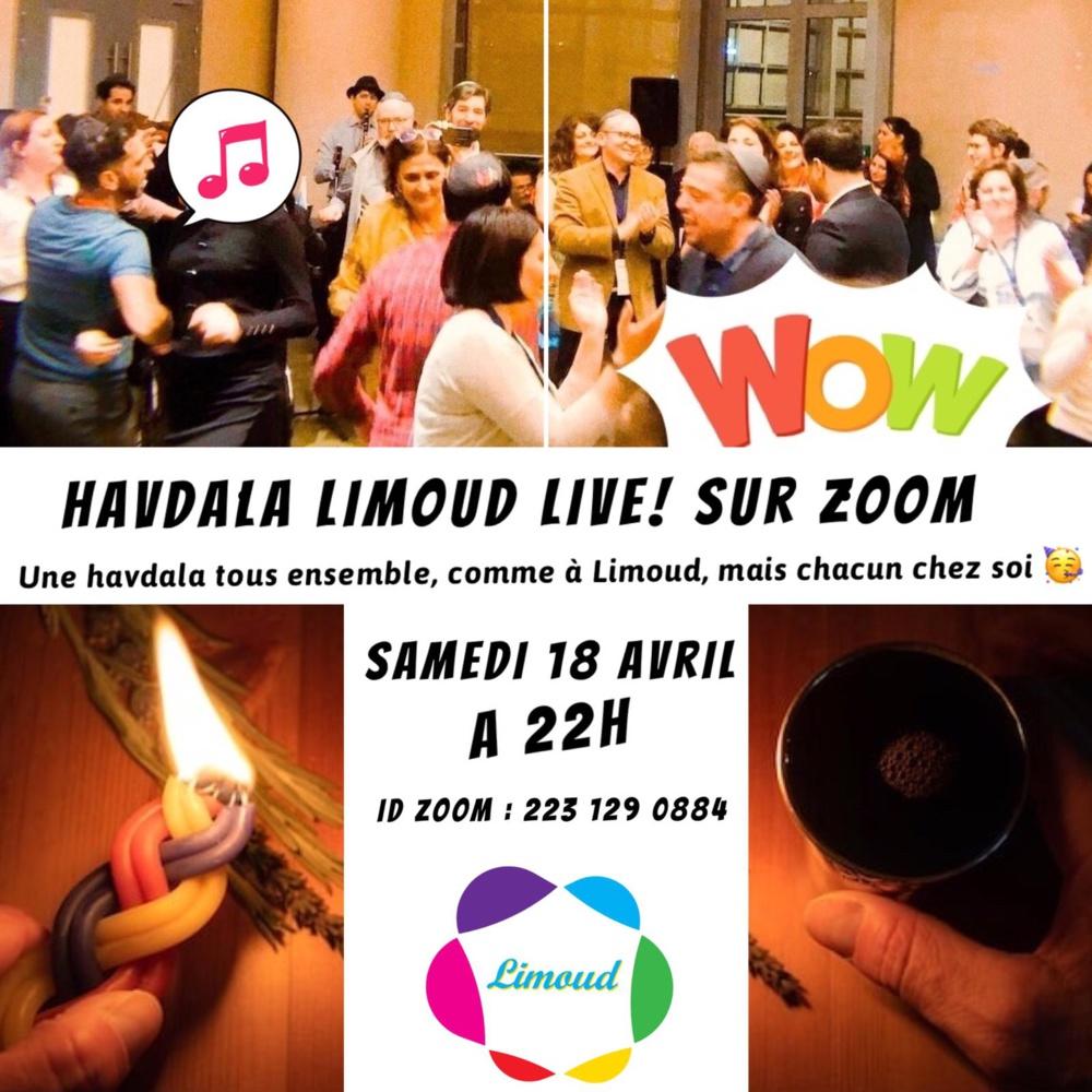 Havdala Limoud Samedi 18 avril sur Zoom !